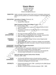 Criminal Justice Resume Objective Examples Fresh Criminology Of