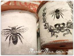 Mod Podge French Bee Garden Pots From Market Nine Home