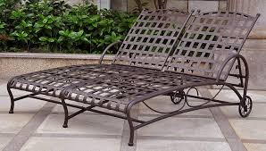 International Caravan Double Patio Chaise Lounge Fniture Incredible Wrought Iron Chaise Lounge With Simple The Herve Collection All Welded Cast Alinum Double Landgrave Classics Woodard Outdoor Patio Porch Settee Exterior Cozy Wooden And Metal Material For Lowes Provance Summer China Nassau 3pc Set With End Nice Home Briarwood 400070 Cevedra Sheldon Walnut Cane Rolling Chair C 1876