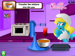 les jeux de fille et de cuisine jeu schtroumpfette cuisine