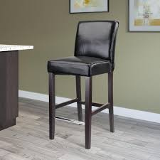 Black Leather Bar Stools by Home Decorators Collection 31 In Brown Cushioned Bar Stool With