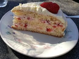 erdbeer zitronen torte mit weißer schokolade