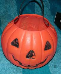 Mcdonalds Halloween Buckets by Vintage Halloween Plastic Pumpkin Candy Bucket Witch Trick Treat