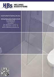 hellweg badsysteme konformitätserklärung