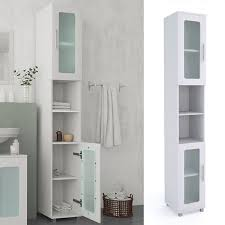 vicco badschrank rayk badezimmerschrank hochschrank badregal schrank glas weiß