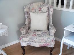 Grey Wingback Chair Slipcovers by Furniture Wonderful Wingback Chair Slipcover In Charming Floral