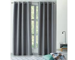 textured thermal lined eyelet curtain 2 pack aldi australia