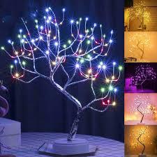 led nachtlicht bonsai baum l tischle für wohnzimmer schlafzimmer dekor ebay