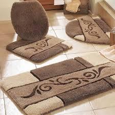 Decorative Towel Sets Bathroom by Bathroom Nice Decorative Bathroom Rug Sets With White Toilet And