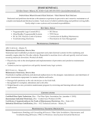 Sample Resume For Electrical Maintenance Technician Valid Classy