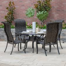 Du Monde 5 Piece Banana Leaf Wicker Patio Dining Set W/ 48 Inch Round  Dining Table By Lakeview Outdoor Designs Outdoor Wicker Chairs Table Cosco Malmo 4piece Brown Resin Patio Cversation Set With Blue Cushions Panama Pecan Alinum And 4 Pc Cushion Lounge Ding 59 X 33 In Slat Top Suncrown Fniture Glass 3piece Allweather Thick Durable Washable Covers Porch 3pc Chair End Details About Easy Care Two Natural Sorrento 5 Cast Woven Swivel Bar 48 Round Jeco Inc W00501rg Beachcroft 7 Piece By Signature Design Ashley At Becker World Love Seat And Coffee Belham Living Montauk Rocking