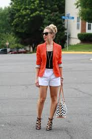 color flash bright blazer black tank u0026 white shorts