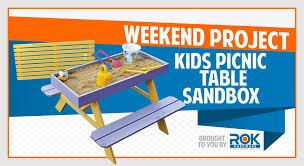 weekend diy project the picnic table sandbox u2013 rok hardware