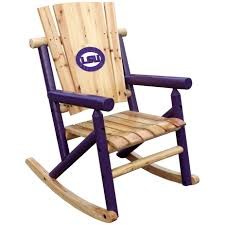 furniture single rocker chair in natural and purple by hinkle