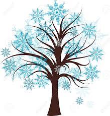 Decorative winter tree vector illustration Stock Vector