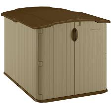 Tractor Supply Wood Storage Sheds by Shop Suncast Taupe Resin Outdoor Storage Shed Common 57 5 In X