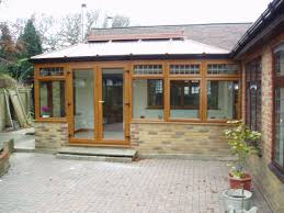 100 Conservatory Designs For Bungalows 2Sided DIY Edwardian In GoldenOak PVCu With Hipped