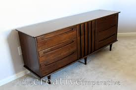 Broyhill Brasilia Dresser With Mirror by The Creative Imperative Refinished Mid Century Modern Dresser