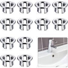 beliof 12 pcs kunststoff überlauf abdeckung sinken überlaufschutz für waschbecken waschbeckenüberlauf überlaufrosette überlaufring in lochersatzteil