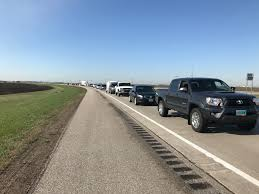 100 Fertilizer Truck Truck Crash Causes Traffic Back Up East Of Moorhead