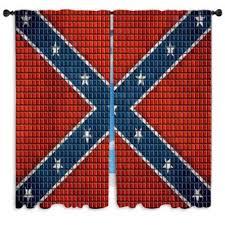 confederate rebel flag custom size window curtains