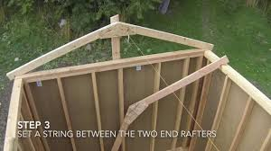how to build a shed part 7 shed roof framing patio