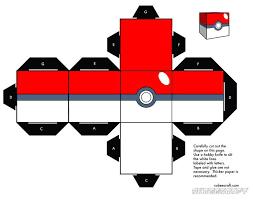 Cubeecraft Google Pokemon Crafts For Kids Papercraft Pokeball Printable Templates