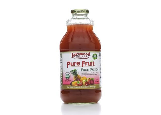 Lakewood Organic Pure Fruit Juice, Fruit Punch - 32 fl oz bottle
