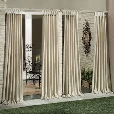 Patio Curtains Outdoor Idea by Living Room Matine Indoor Outdoor Tab Top Curtain Panels With Tab