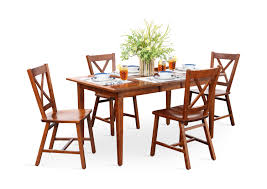 100 Cherry Table And 4 Chairs Eagle Mountain Dining X HOM Furniture
