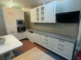 küche landhausstil einbauküche nach maß l form weiß matt neu