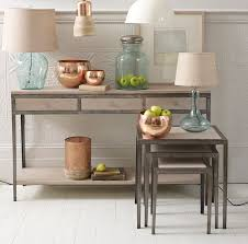 Furniture: Pottery Barn Console Tables   Pedestal Console Table ... Ana White Pottery Barn Benchwright Farmhouse Ding Table Diy Sofas Marvelous Towels Coffee Table And End Tables Pottery Barn Sofa Tables Centerfieldbarcom Fniture Reclaimed Wood Sofa 15 Best Ideas Of Console Dreamed Matt And Jentry Home Design Fabulous Benchwright Extending Ding Knockoff Zinc Projects Amazing Stools Ikea Griffin Media Decor Look Alikes