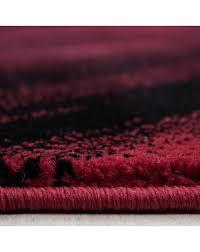 moderner designer wohnzimmer teppich wellendesign miami 6630 rot schwarz