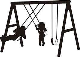 Swing Set Clipart Black And White
