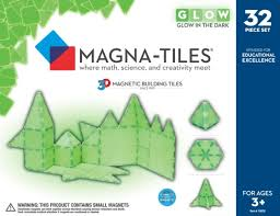magna tiles glow 32 piece set valtech co the treehouse toy