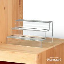 3 Step Display Stand Counter Retail Riser Acrylic Nail Polish Jewellery Plinth