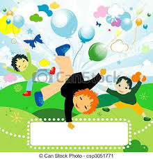 Kids Playing Children Joyful Design For Clipart