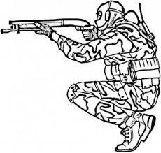 Pin Drawn Gun Coloring Page 6