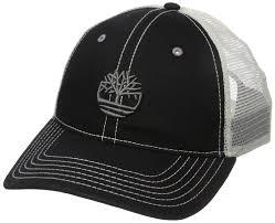 Timberland Men's Cotton Twill Trucker Cap, Black, One Size: Amazon ...