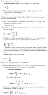 Physics II For Dummies Cheat Sheet
