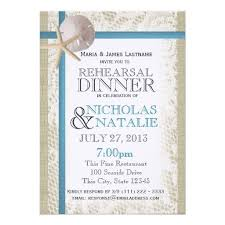 Beach Wedding Rehearsal Dinner Custom Announcement