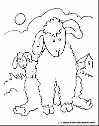 Remarkable Lamb Sheep Coloring Page With And Baby Pages