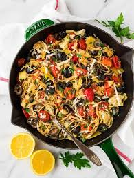 Mediterranean Pasta With Artichoke Tomato Garlic And Lemon One Of Our Favorite
