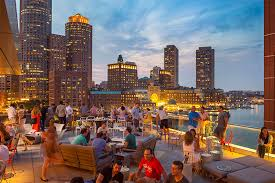 Harborside Grill And Patio by Lookout Rooftop U0026 Bar In Boston Ma The Envoy Hotel Dining
