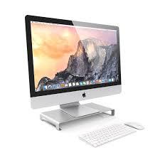 Imac Monitor Desk Mount by Amazon Com Satechi Aluminum Universal Unibody Monitor Stand For