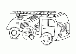 Fire Engine Coloring Pages Free New Small Fire Truck Coloring Page ...