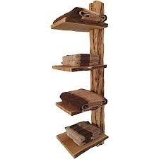 wood wishes rustikales eiche massivholz wandregal badregal allzweckregal gefertigt in handarbeit 4 ablagen mit baumkante dekoratives unikat