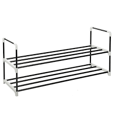 Stackable Shoe Rack MaidMAX 2 Tier Metal Shoe Organizer Stand