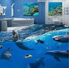 world dolphins 3d boden malerei wandbild tapete badezimmer kinder schlafzimmer pvc selbstklebende wasserdichte boden tapete 3 d 150 105 cm
