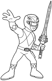 Free Template Mighty Morphin Power Rangers Coloring Pages To Print Out Large Size